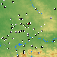 Nearby Forecast Locations - Będzin - Mapa