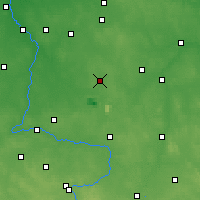 Nearby Forecast Locations - Bełchatów - Mapa