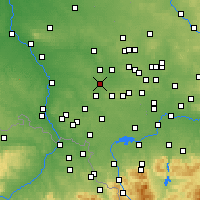 Nearby Forecast Locations - Knurów - Mapa