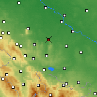 Nearby Forecast Locations - Strzelin - Mapa