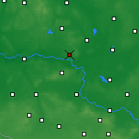 Nearby Forecast Locations - Sulechów - Mapa