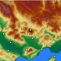 Nearby Forecast Locations - Monte Falakro - Mapa