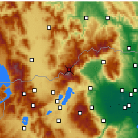 Nearby Forecast Locations - Voras Mountains - Mapa