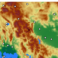 Nearby Forecast Locations - Pertouli - Mapa