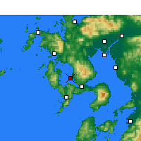 Nearby Forecast Locations - Nagasaki aeropuerto - Mapa