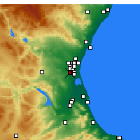 Nearby Forecast Locations - Torrente - Mapa