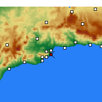 Nearby Forecast Locations - Torremolinos - Mapa