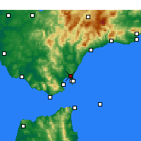 Nearby Forecast Locations - San Roque - Mapa