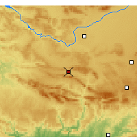 Nearby Forecast Locations - Puertollano - Mapa