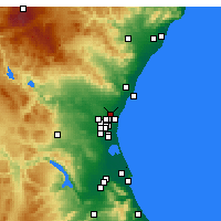 Nearby Forecast Locations - Moncada - Mapa