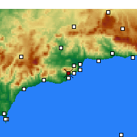Nearby Forecast Locations - Mijas - Mapa