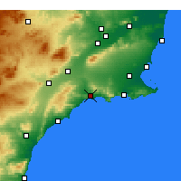 Nearby Forecast Locations - Mazarrón - Mapa