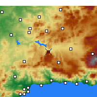 Nearby Forecast Locations - Loja - Mapa