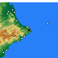 Nearby Forecast Locations - Jávea - Mapa