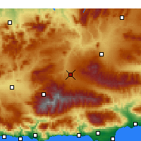 Nearby Forecast Locations - Guadix - Mapa