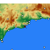 Nearby Forecast Locations - Fuengirola - Mapa