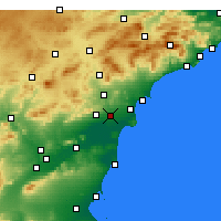 Nearby Forecast Locations - Elche - Mapa