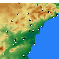 Nearby Forecast Locations - Crevillente - Mapa
