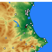 Nearby Forecast Locations - Carcagente - Mapa