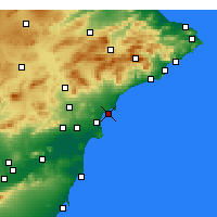Nearby Forecast Locations - Santa Pola - Mapa