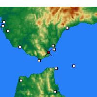 Nearby Forecast Locations - Algeciras - Mapa