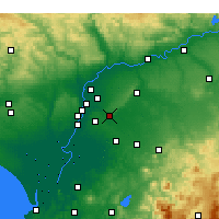 Nearby Forecast Locations - Alcalá de Guadaíra - Mapa