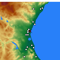 Nearby Forecast Locations - Alboraya - Mapa