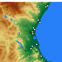 Nearby Forecast Locations - Alacuás - Mapa