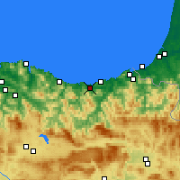 Nearby Forecast Locations - Zarauz - Mapa