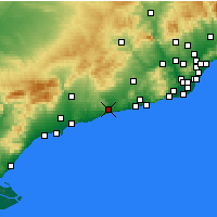 Nearby Forecast Locations - Vendrell - Mapa