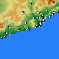 Nearby Forecast Locations - Sitges - Mapa