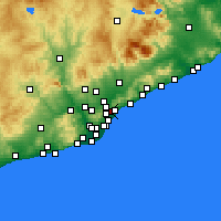 Nearby Forecast Locations - Santa Coloma de Gramanet - Mapa