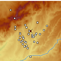 Nearby Forecast Locations - San Sebastián de los Reyes - Mapa