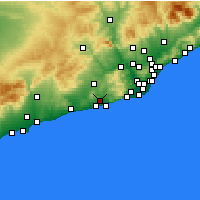 Nearby Forecast Locations - San Pedro de Ribas - Mapa