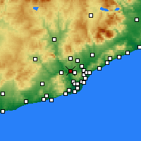 Nearby Forecast Locations - Rubi - Mapa