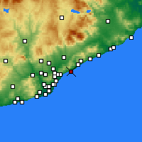 Nearby Forecast Locations - Premiá de Mar - Mapa