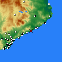 Nearby Forecast Locations - Pineda de Mar - Mapa