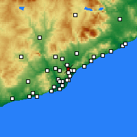 Nearby Forecast Locations - Moncada y Reixach - Mapa