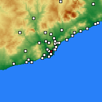 Nearby Forecast Locations - Hospitalet de Llobregat - Mapa
