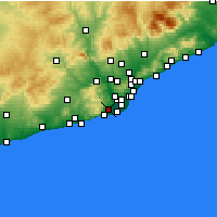 Nearby Forecast Locations - Gavá - Mapa