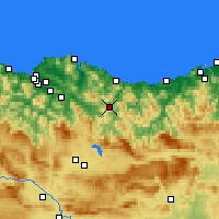 Nearby Forecast Locations - Éibar - Mapa