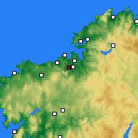 Nearby Forecast Locations - Culleredo - Mapa