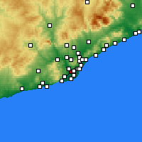 Nearby Forecast Locations - Cornellá de Llobregat - Mapa