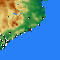 Nearby Forecast Locations - Blanes - Mapa