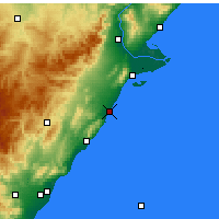 Nearby Forecast Locations - Benicarló - Mapa