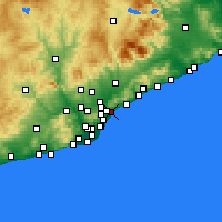 Nearby Forecast Locations - Badalona - Mapa