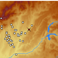 Nearby Forecast Locations - Azuqueca de Henares - Mapa