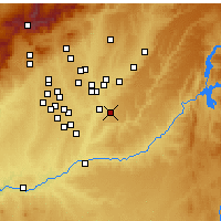 Nearby Forecast Locations - Arganda del Rey - Mapa