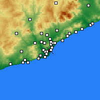 Nearby Forecast Locations - Distrito del Ensanche - Mapa