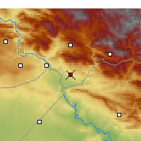 Nearby Forecast Locations - Silopi - Mapa